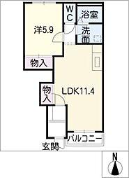 かかみの御苑[1階]の間取り