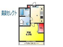 フォルトゥーナ松戸[102号室]の間取り