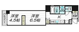 インザグレイス心斎橋[6階]の間取り