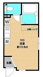 キャトルセゾン TOUMO[1階]の間取り