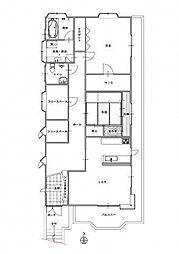 グランクレスト姫路[2階号室]の間取り
