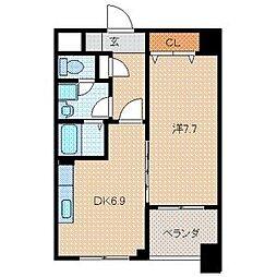 インターフェイス竪町[2階]の間取り