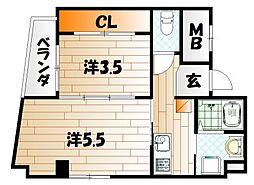 ラティスビル[4階]の間取り