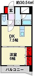 ライオンズマンション黒崎[4階]の間取り