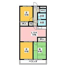 Spazio665[4階]の間取り