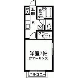 第2ロイヤル大嶋[201号室]の間取り