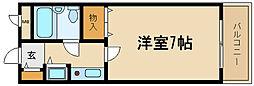 兵庫県伊丹市東有岡1丁目の賃貸マンションの間取り