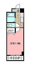 アヴィニール清水[5階]の間取り