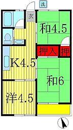 第3八木原コーポ[2階]の間取り