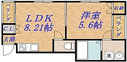 メゾンドリべルテ[4階]の間取り