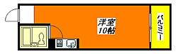 ライラック・小阪 505号室[5階]の間取り