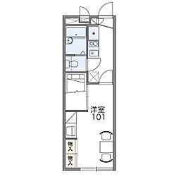 レオパレスシャングリラ[1階]の間取り