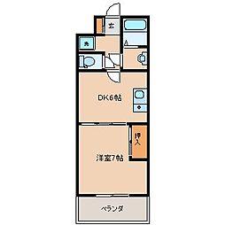 サンライズ湯地I[3階]の間取り