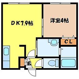 北海道札幌市中央区南一条東3丁目の賃貸マンションの間取り