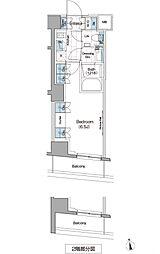 ザ・パークハビオ新宿[6階]の間取り