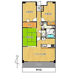クレサージュ松戸六高台 so[2階]の間取り