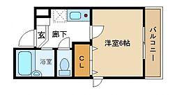 ドミール関空[2階]の間取り
