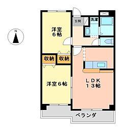 ベルドミール葵21[4階]の間取り