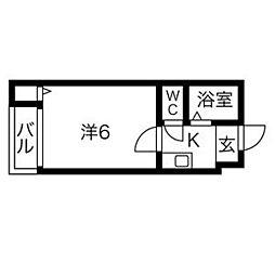 プレアール寝屋川高柳[205号室]の間取り