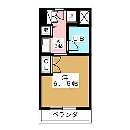 ドーミーいりなか[5階]の間取り