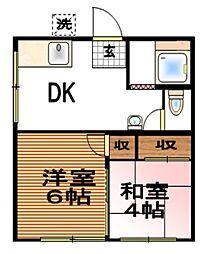 澄奈ハイツI[1階]の間取り