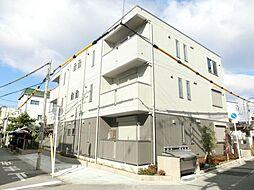 大阪府大阪市東住吉区針中野3丁目の賃貸アパートの外観