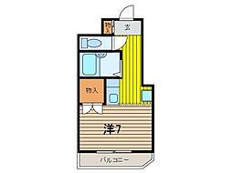 コンフォート武蔵浦和[1階]の間取り