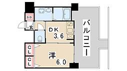 レジデンス神戸グルーブハーバーウエスト[7階]の間取り