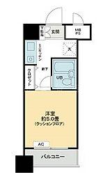 ライオンズマンション関内第6[11階]の間取り