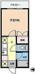 東京都江戸川区東葛西5丁目の賃貸アパートの間取り