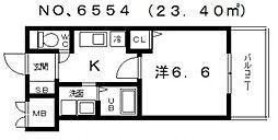 大阪府大阪市天王寺区国分町の賃貸マンションの間取り