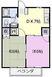 シーサイドII[105号室]の間取り