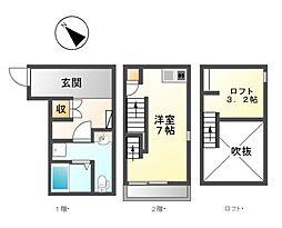 愛知県名古屋市港区新川町4丁目の賃貸アパートの間取り