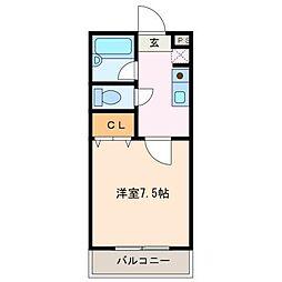 レスポール[2階]の間取り