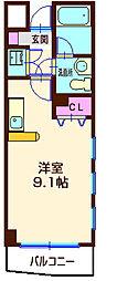 神奈川県横浜市港北区仲手原2丁目の賃貸マンションの間取り