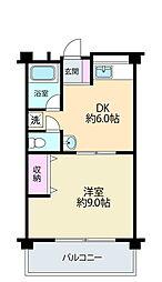 栄信ビル[4階]の間取り