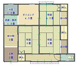 [一戸建] 福岡県北九州市小倉南区湯川5丁目 の賃貸【/】の間取り
