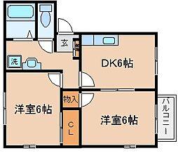 兵庫県神戸市長田区名倉町4丁目の賃貸アパートの間取り