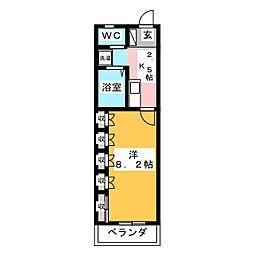 パークアベニュー竹原[1階]の間取り
