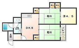 シティライフ柳[2階]の間取り