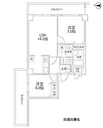 リバーレセンター南[5階]の間取り