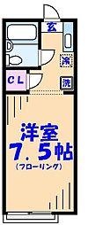 東船メゾン・アイA[203号室]の間取り