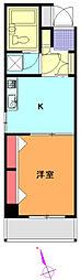 クリオ衣笠弐番館[6階]の間取り