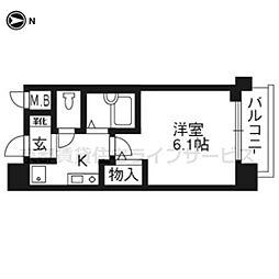 プレサンス京都四条烏丸803[8階]の間取り