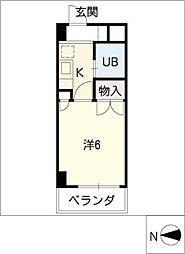 岩井橋ロイヤルハイツ[6階]の間取り