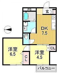 T・Kハイツ 〜ティーケーハイツ〜[2階]の間取り