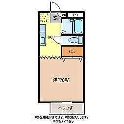 コーポピクルII[1階]の間取り