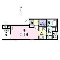 愛知県名古屋市中川区中野新町6の賃貸アパートの間取り