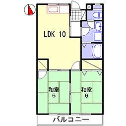 兵庫県姫路市青山6の賃貸アパートの間取り