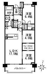 パークホームズ夙川松下町[3F号室]の間取り